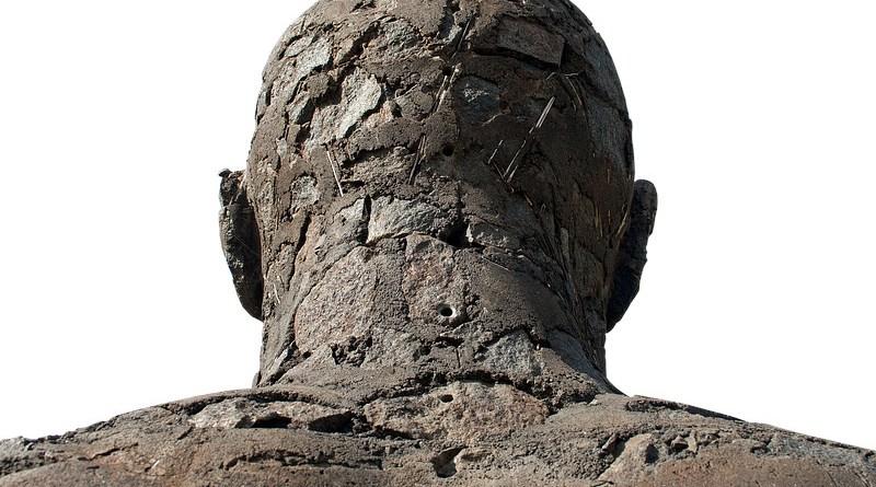 Travel Sculpture Man Stone Move Statue Figure