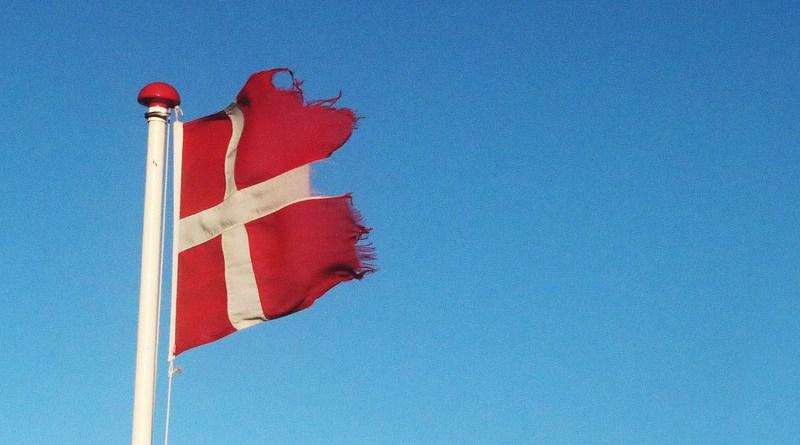 torn worn denmark flag