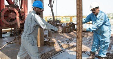 Oil workers drilling an exploration well in Pakistan. Photo Credit: OGDCL