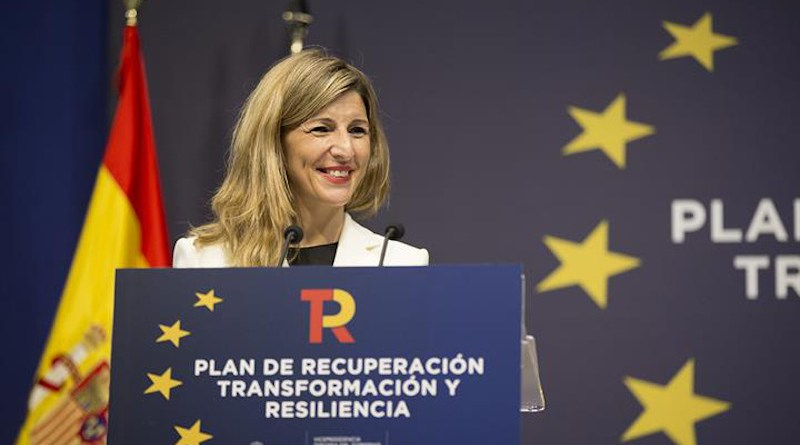 Yolanda Díaz, Spain's Third Deputy Prime Minister of the Government and Minister for Work and Social Economy. Photo Credit: Moncloa