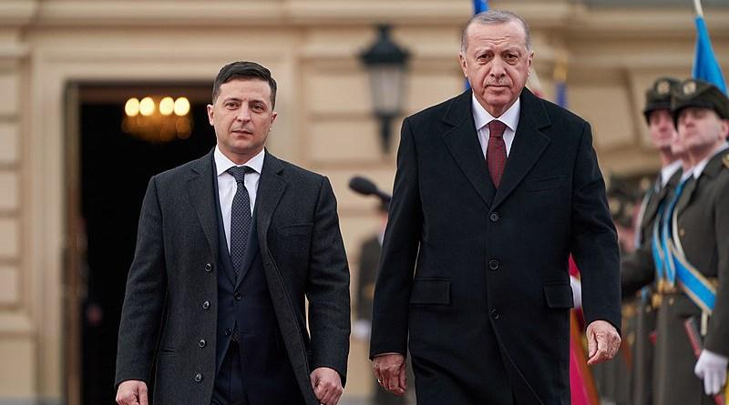 President of Ukraine Volodymyr Zelensky and Turkish President Recep Tayyip Erdoğan in Kyiv, Ukraine. Photo Credit: Presindent.ua