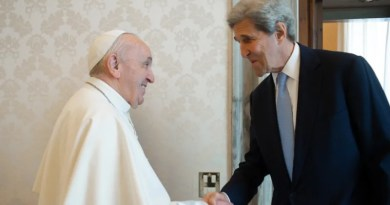 Pope Francis with US climate envoy John Kerry. Photo Credit: Vatican News.