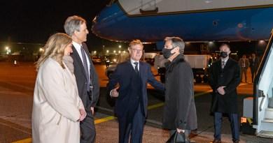 Secretary of State Antony J. Blinken arrives in Copenhagen, Denmark, on May 16, 2021. [State Department photo by Ron Przysucha/ Public Domain]