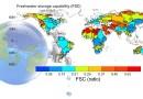 Global distribution of total land water-based freshwater storage capability. CREDIT Enda Zhu
