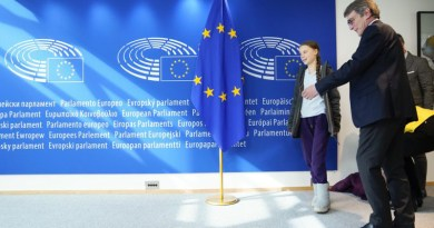 David Sassoli, European Parliament President meets with Greta Thunberg, Swedish environmental activist. Photo Credit: EP / Daina LeLardic