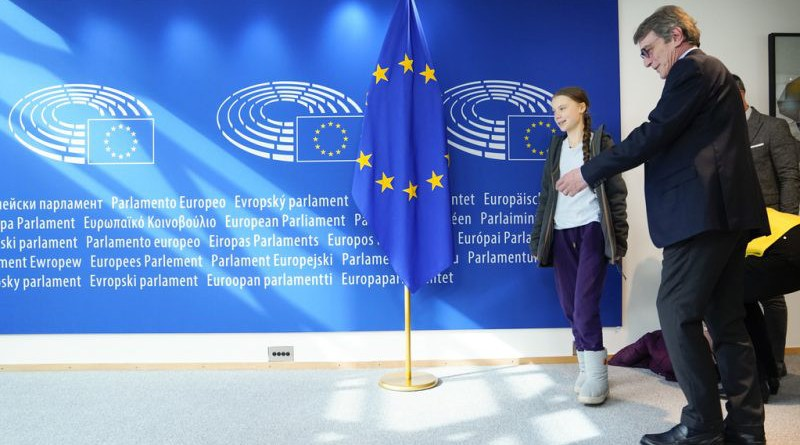 David Sassoli, European Parliament President meets with Greta Thunberg, Swedish environmental activist. Photo Credit: EP / Daina LeLardic