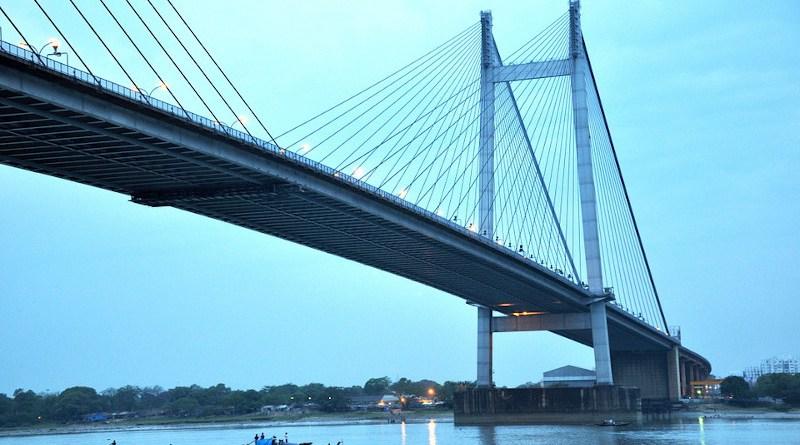 India Bridge Calcutta Kolkata Hooghly River Vidyasagar