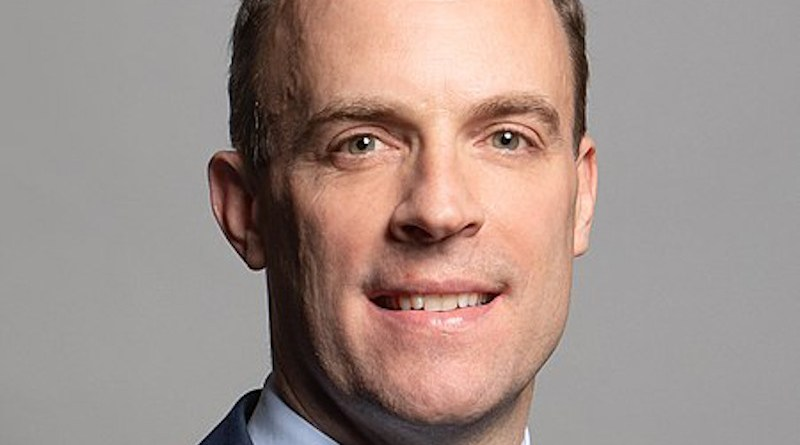 Official UK Parliament portrait of Dominic Raab. Photo Credit: Richard Townshend, WIkipedia Commons