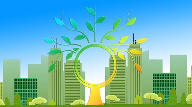 Renewable Energy City Urbanization Tree Aesthetic Leaves Skyscraper