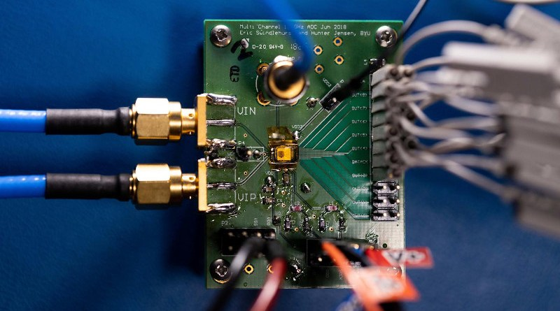 Image of an analog-to-digital converter. CREDIT BYU Photo
