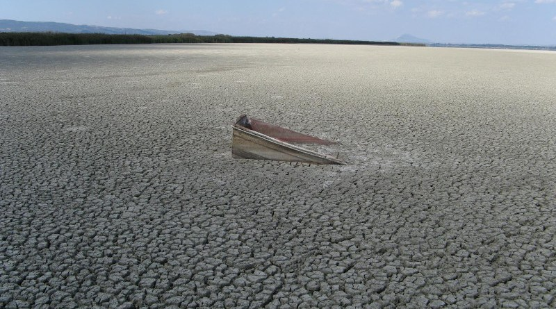 Lake Volvi (Greece) temporarily dries up as a consequence of excessive irrigation for agriculture paired with climate change - one of many examples of a freshwater system under human impact. CREDIT C. Albrecht (JLU)