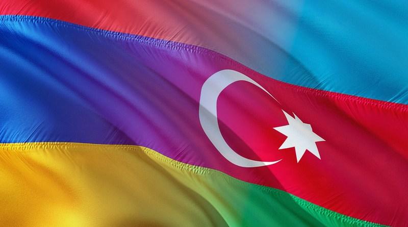 Flags of Armenia and Azerbaijan