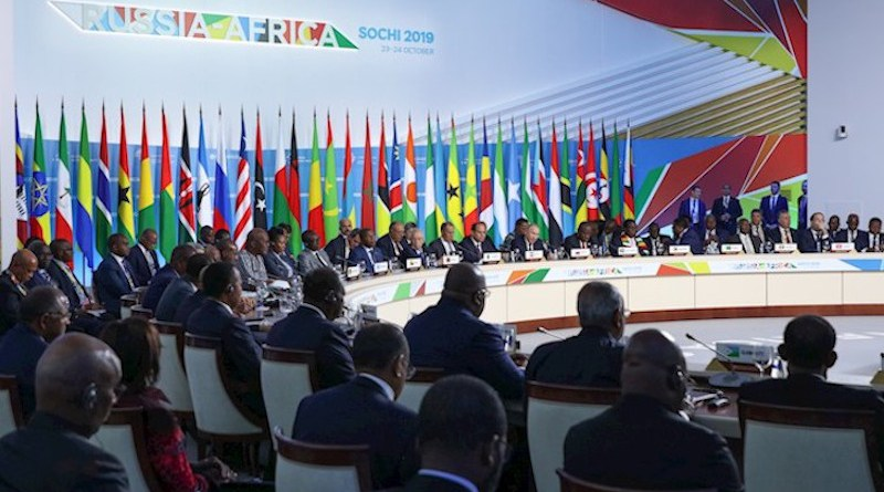 First plenary meeting of the Russia-Africa Summit on 24 October 2019. Credit: Roscongress.