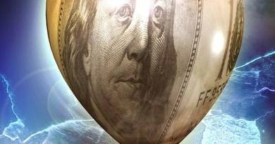 Dollar Inflation Balloon Ben Franklin Bill Money
