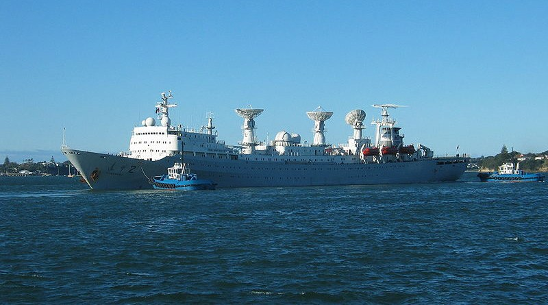 File photo of China's Yuan Wang 2 ship, used for tracking and support of satellite and intercontinental ballistic missiles. Photo Credit: Gadfium, Wikipedia Commons