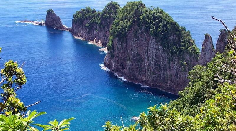 American Samoa Island Scenic Sea Ocean Water