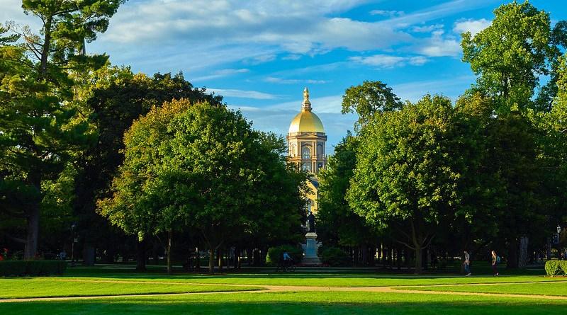 University Of Notre Dame School Colleges Landscape