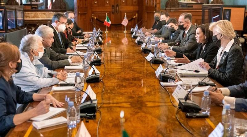 Mexico's President Andrés Manuel López Obrador holds talks with US Vice President Kamala Harris. Photo Credit: The White House