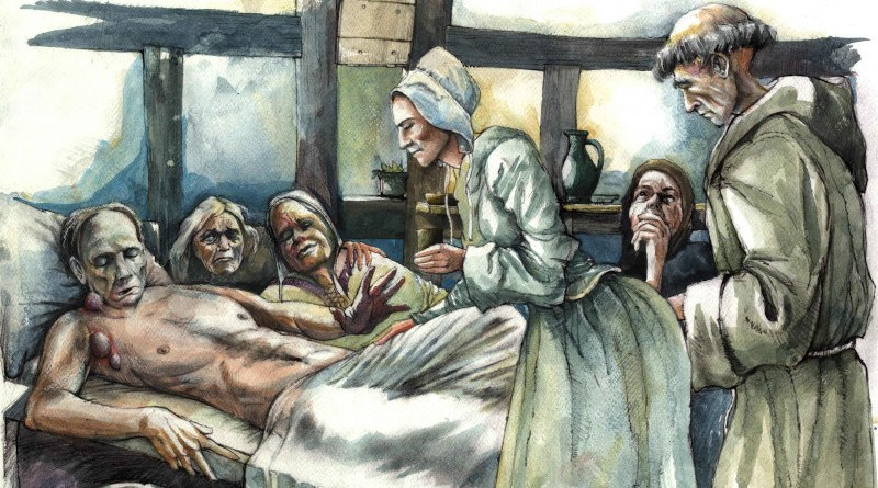 Reconstruction of plague victim from All Saints, Cambridge CREDIT Mark Gridley