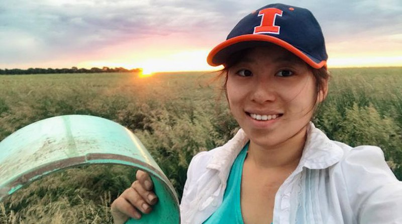 Researcher Yushu Xia (pictured) and others from the University of Illinois and Argonne National Laboratory have mapped nitrous oxide emissions from corn fertilizers to the county level, allowing greater precision in life cycle analysis for corn ethanol. CREDIT Yushu Xia, University of Illinois