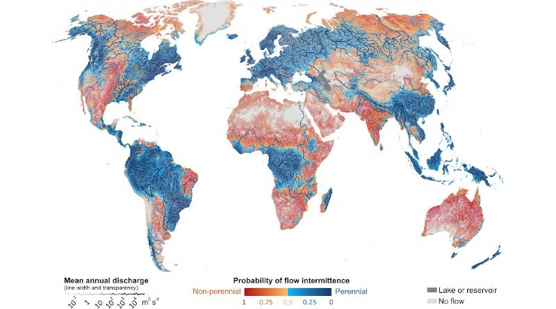 Rivers and streams that do not flow year-round occur in all climates and across all continents, whether they are Himalayan snow-fed creeks, Saharan wadis that only occasionally fill with water, kilometre-wide rivers on the Indian sub-continent or small forested streams of British Columbia. CREDIT McGill University