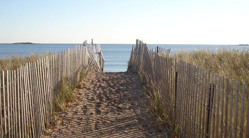 New England Path Fence Ocean Sea Beach Seascape