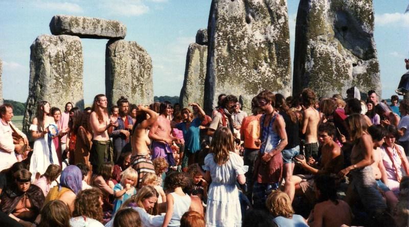 Stonehenge Free Festival in 1984. Photo Credit: Salix alba, Wikipedia Commons
