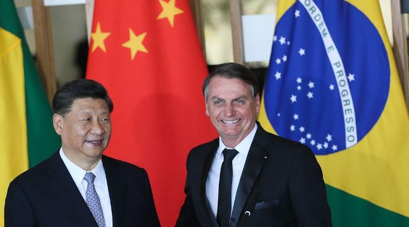 China's President Xi Jinping with Brazil's President Jair Bolsonaro. Photo Credit: Photo Credit: Valter Campanato, Agencia Brasil