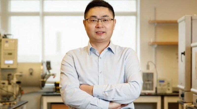 Cunjiang Yu, Bill D. Cook Associate Professor of Mechanical Engineering at the University of Houston, is sing the Ancient art of Kirigami to make an eyeball-like camera.
