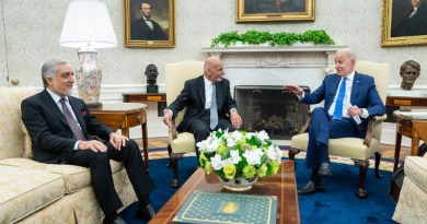 US President Joe Biden with Afghanistan's President Ashraf Ghani and Abdullah Abdullah, the chairman of Afghanistan's High Council for National Reconciliation. Photo Credit: The White House
