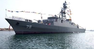 Iranian Navy's Dena destroyer. Photo Credit: Tasnim News Agency