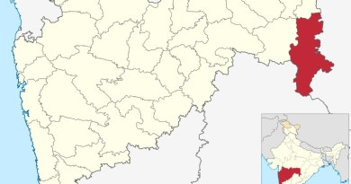 Location of Gadchiroli district in Maharashtra, India. Credit: Wikipedia Commons