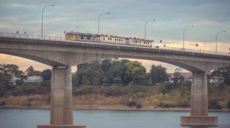 Train Bridge River Thailand Laos