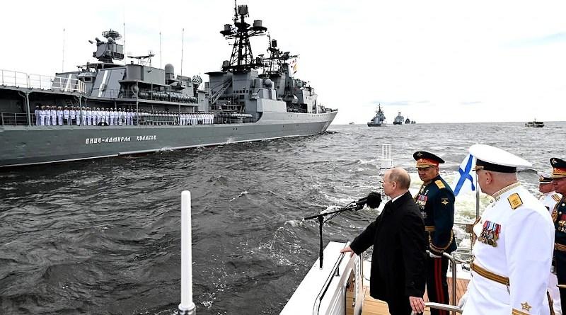 Russia's President Vladimir Putin attends the Navy Day parade in St. Petersburg on July 25. Photo Credit: Kremlin.ru