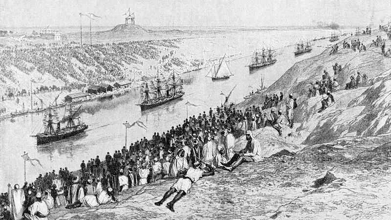Opening of the Suez Canal, 1869. Credit: Сканирование: Владимир Васильев, Wikipedia Commons