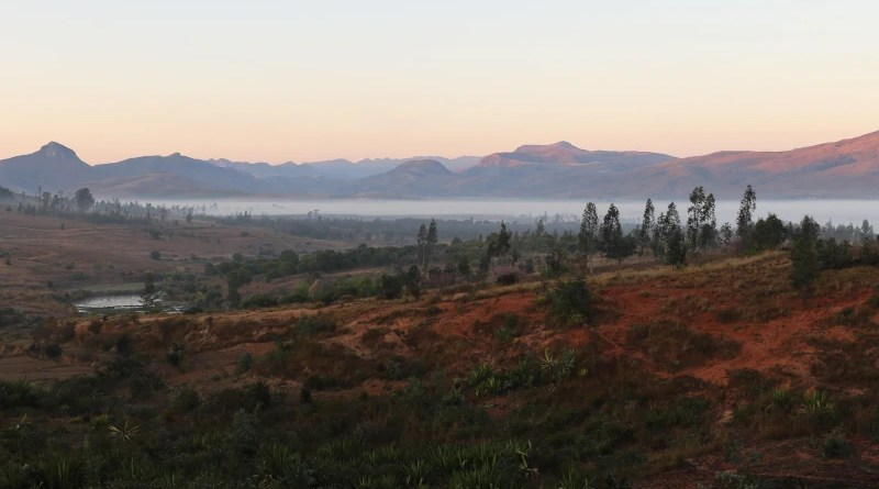 A morning view of the landscape in the Ihosy district of south-central Madagascar CREDIT: Sean Hixon
