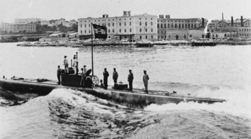 The Austro-Hungarian U-boat SM U-1 in Pola. Credit: Wikipedia Commons