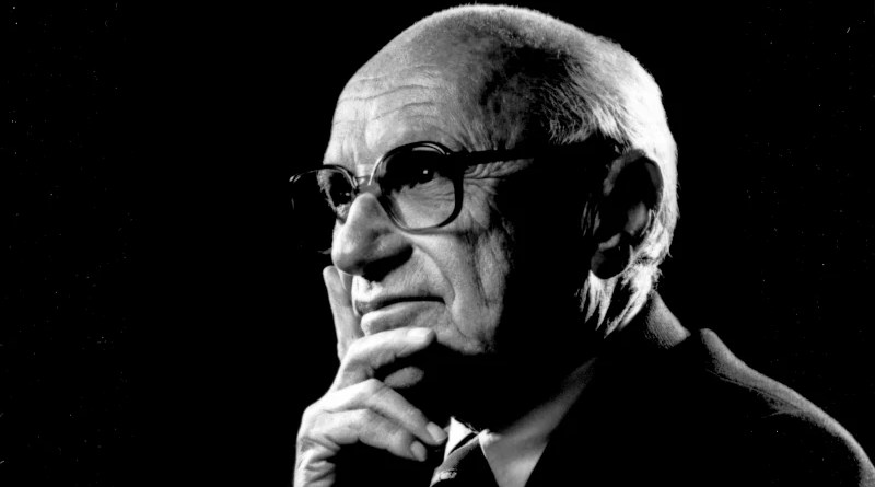 Milton Friedman. Photo Credit: The Friedman Foundation for Educational Choice, Wikipedia Commons