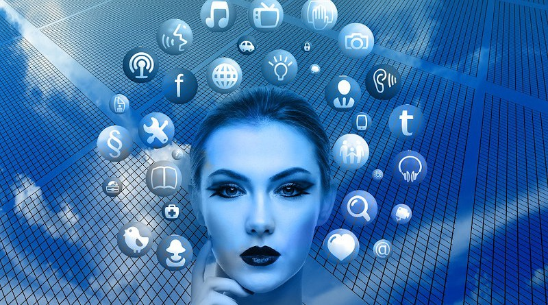 Influence Woman Face Social Media Thoughts Head Applications