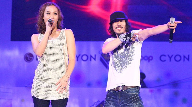 Hip-hop artist Yoon Mi-rae and her husband, rapper Tiger JK of Drunken Tiger, are credited with popularising American-style hip hop in Korea. Photo Credit: LG전자, Wikipedia Commons