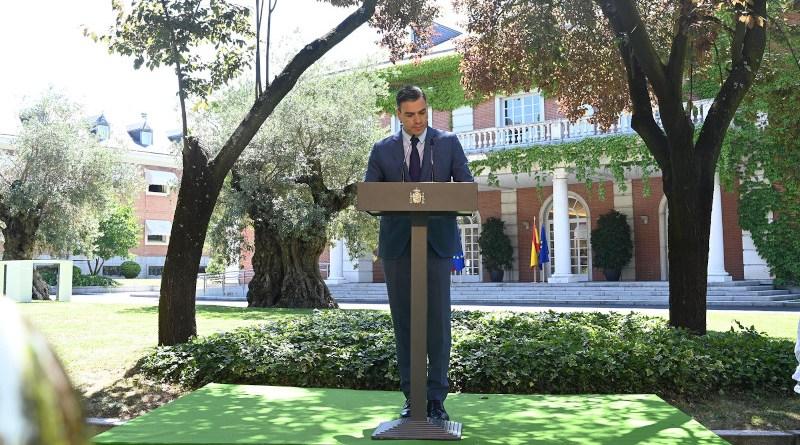 Spain's Prime Minister Pedro Sánchez. Photo Credit: Pool Moncloa/Borja Puig de la Bellacasa