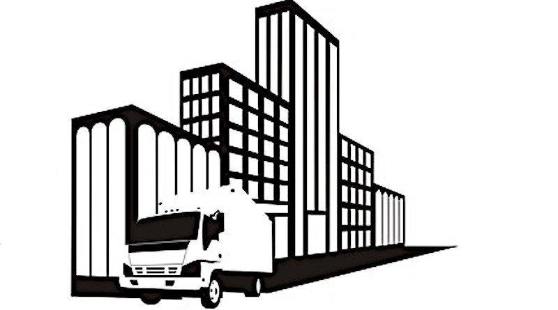 delivery vehicle electric Van Truck Trucking Icon Moving Car Cargo