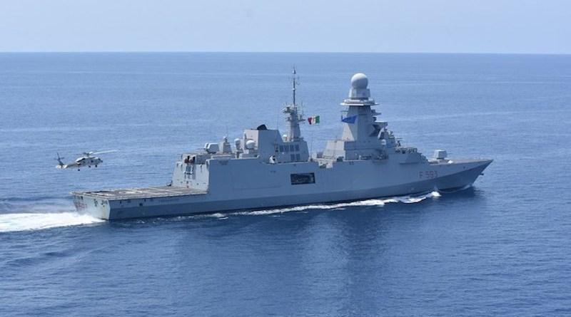 The Italian naval vessel Carabiniere off the coast of Somalia, May 2021. (Wikimedia Commons)