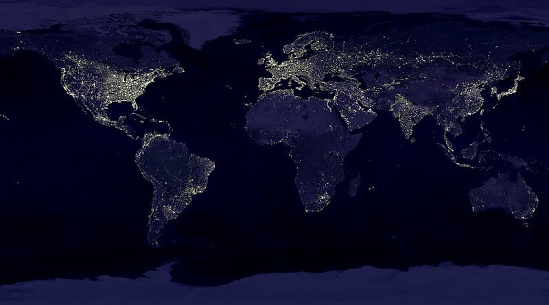 Earth World Map Continents Land Satellite Image