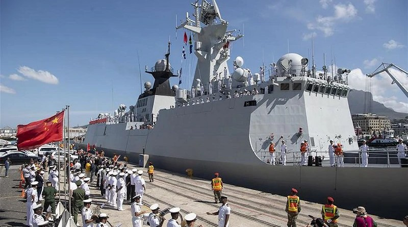 File photo of South African navy welcoming ceremony for frigate Weifang of the Chinese People's Liberation Army (PLA) Navy in Cape Town, South Africa. Photo Credit: China MoD