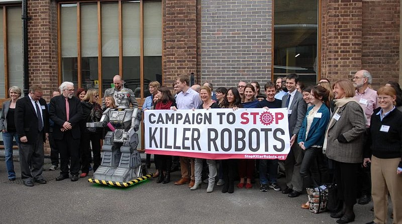 The Campaign to Stop Killer Robots. Photo Credit: The Campaign to Stop Killer Robots, Wikipedia Commons