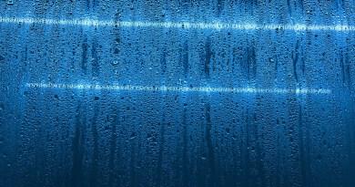 Vapor Condensation Glass Window Drops Water Fluid
