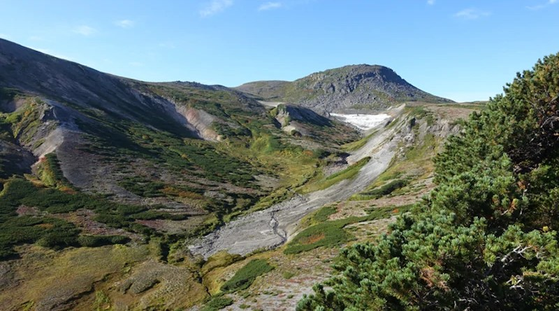Daisetsu Mountains in Hokkaido, Japan. Permafrost exists because surface air temperature is low throughout the year. CREDIT: NIES