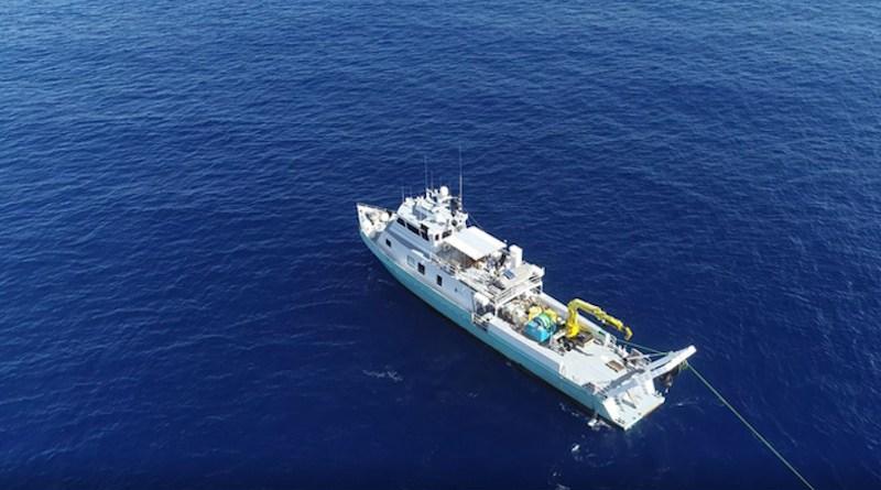 Research vessel Hercules in the Mediterranean. CREDIT: A. Micallef.