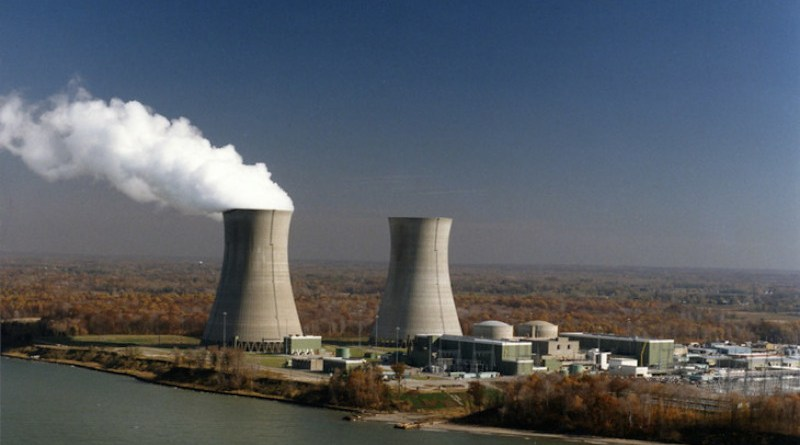 The two-unit Perry plant, pictured when it marked 30 years of operations in 2017 (Image: FirstEnergy)